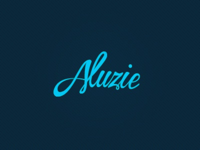 Aluzie logo typography type