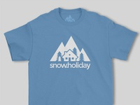 Snow Holiday Logo and Print Design