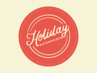Hand drawn type for a holiday company.
