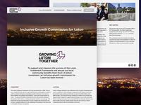 Growing Luton Together Website