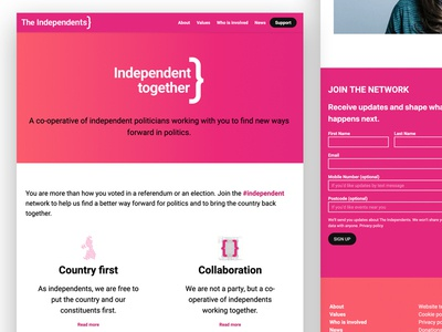 The Independents Website