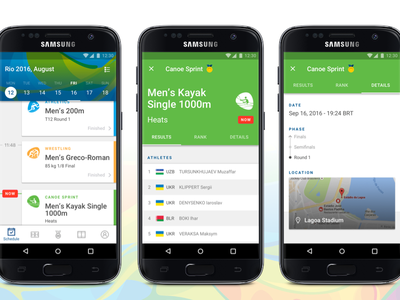 Claro Rio 2016 - Olympic and Paralympic Games App material design android paralympic games olympic games rio 2106