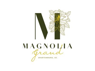 Magnolia Grand Final Logo spartanburg south carolina southern script illustration magnolia floral flower brand identity identity design logo branding