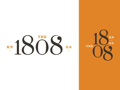 The 1808 Unused Direction Pt. 1 numbers numeral typography type orange brand identity identity design logo branding