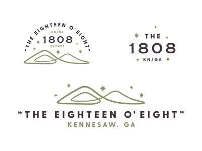 The 1808 kennesaw star mountain brand identity identity design logo branding