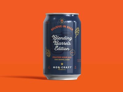 Believe in Beer: Blending Barrels Edition Unused Can Design hops packaging design packaging beer branding beer label beer can design beer can beer