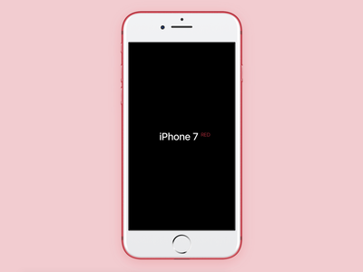 Apple iPhone 7 Red for Framer device custom red iphone apple framer