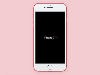 Apple iPhone 7 Red for Framer