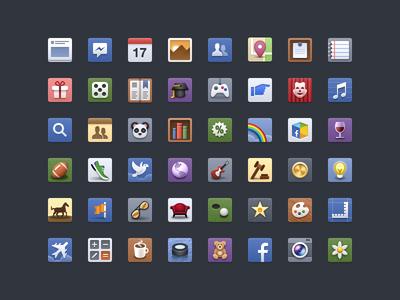 Facebook - Icon Set