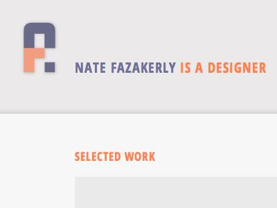 New Website! website responsive nf monogram personal website development web design