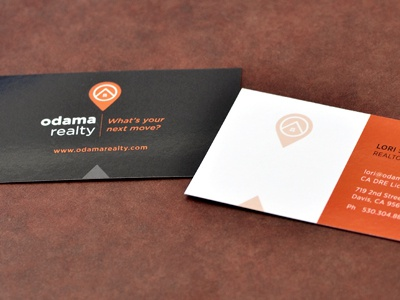 Odama Realty Business Cards realty business card residential real estate residential realty map pin