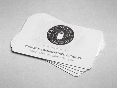 CCC - business card business card card speech therapy communication communications capital badge mic