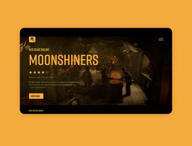 Rockstar Games web redesign concept visual design adobe xd concept webredesign games rockstar