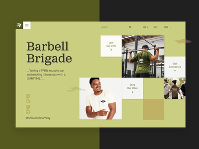 Barbell Brigade - Wed Design exploration barbell brigade barbell visual exploration web design