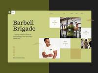 Barbell Brigade - Wed Design exploration