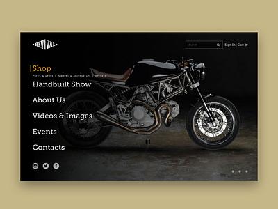 Revival Cycles - Web Design exploration ux design visual web design motorcycle