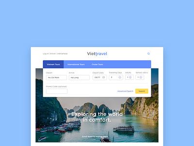 VietTravel - Wed Design exploration visual web design design vietnam travel branding