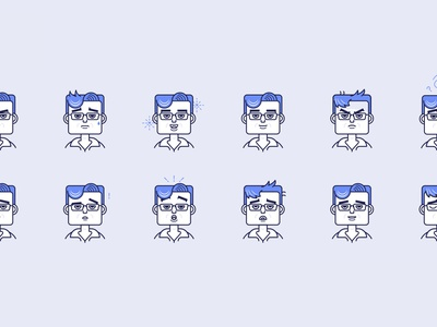 Persona Illustration blue emotions illustration persona