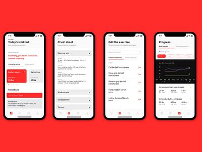 Stacked App Redesign mobile app design visual stacked ui adobe xd design