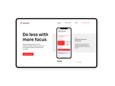 Stacked App Redesign exploration adobe xd ui web design visual design