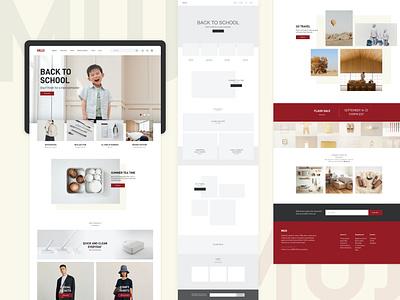 Muji Website Redesign adobe photoshop adobe xd ui web design