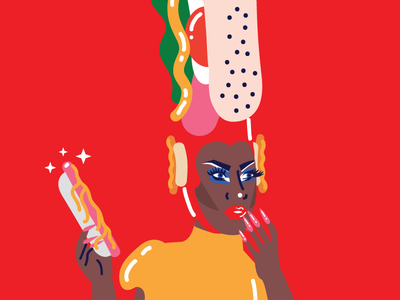 Shea Couleé red hot dog shea coulee drag drag queen rupaul drag race