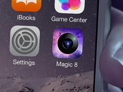 Daily UI #005 magic 8ball ux ui iphone ios icon magic 8