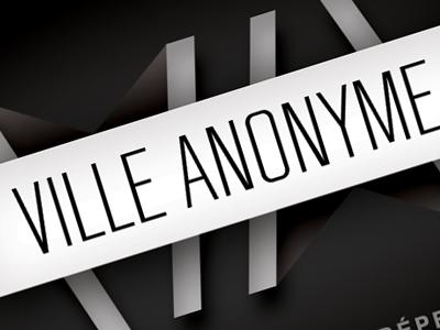 ville anonyme / logotype