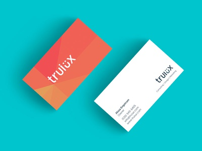 Truiux Business Cards minimal red branding print business cards