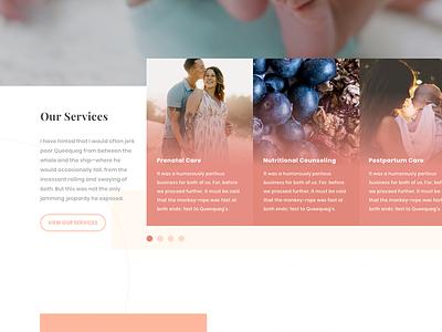 Services Slider poppins wordpress slider pink peach theme health