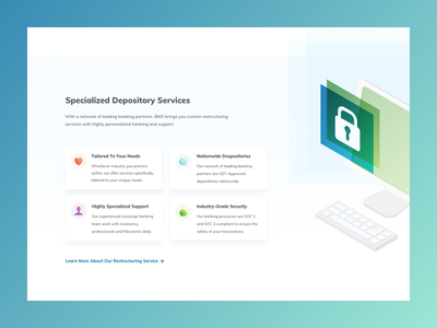 Banking Website icons cards isometric gradients banking