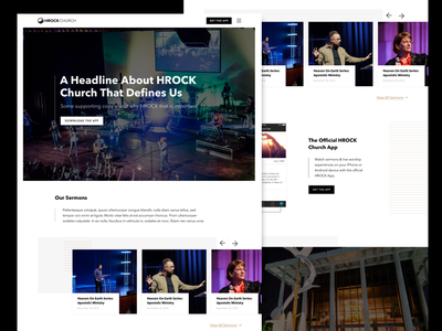 Church Website Redesign black and white ui simple clean minimal