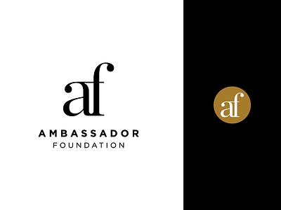 AF Ligature Logo branding logo minimal simple clean af ligatures ligature