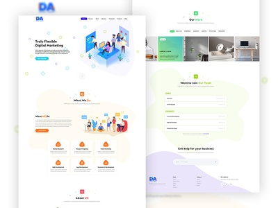 Digital Web Agency vector branding ui gradient falt design one page theme light colorfull colors creative web agency web digital work