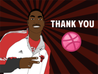 Derrick Rose thanks Dribbble