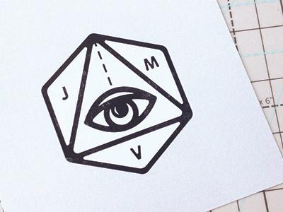 JMV Logo wip logo eye visualization branding geometric
