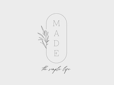 Made - The Simple Life delicate cosmetics simple minimal botanical branding logo