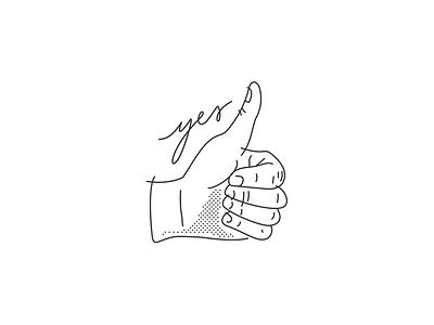 Thumbs Up hand illustration yep thumbs up yes