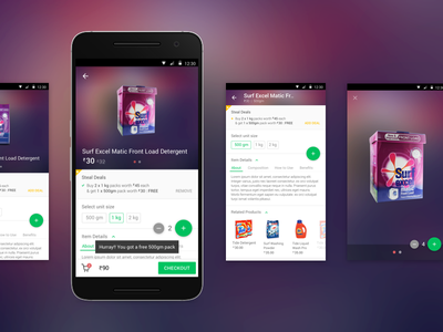 PepperTap : Product Details Screen shopping product details ecommerce android ux ui material design peppertap groceries startup mobile