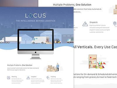 Locus Conference Poster print display banner ui graphic design poster startup locus planning vehicle logistics