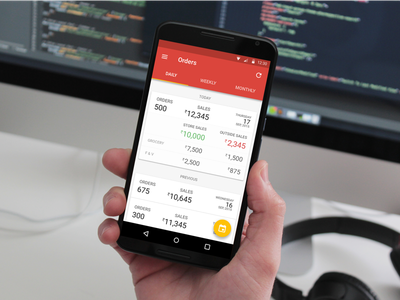 PepperTap Partners v2 partners startup groceries peppertap material design ui ux android mobile data