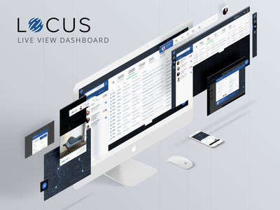 Locus Live view Dashboard screens mockup ui ux dashboard web material map live view tracking logistics