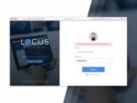 Locus SignIn Screen