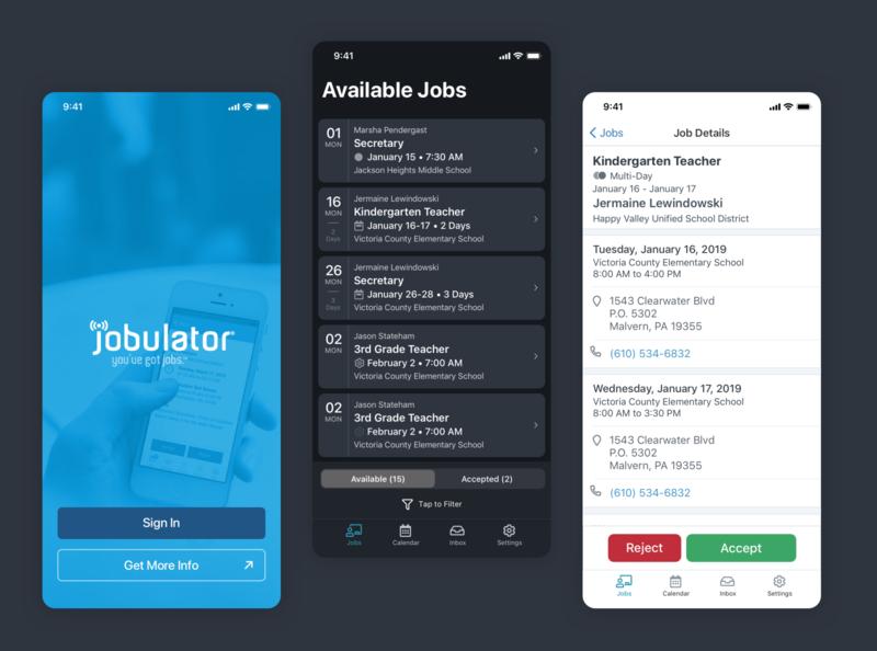Jobulator Redesign teacher jobs substitutes education