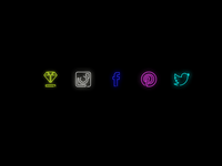 Neon Social Icons by Jean | Dribbble | Dribbble