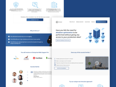 Landing Page for SQL Database Tuning Agency