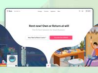 Rento Landing Page