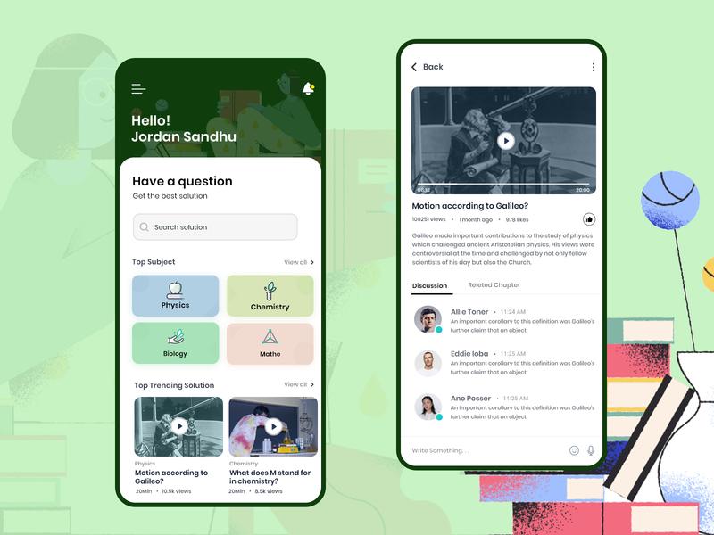 Education App education app questions education solution ux interface illustration web design color app ui