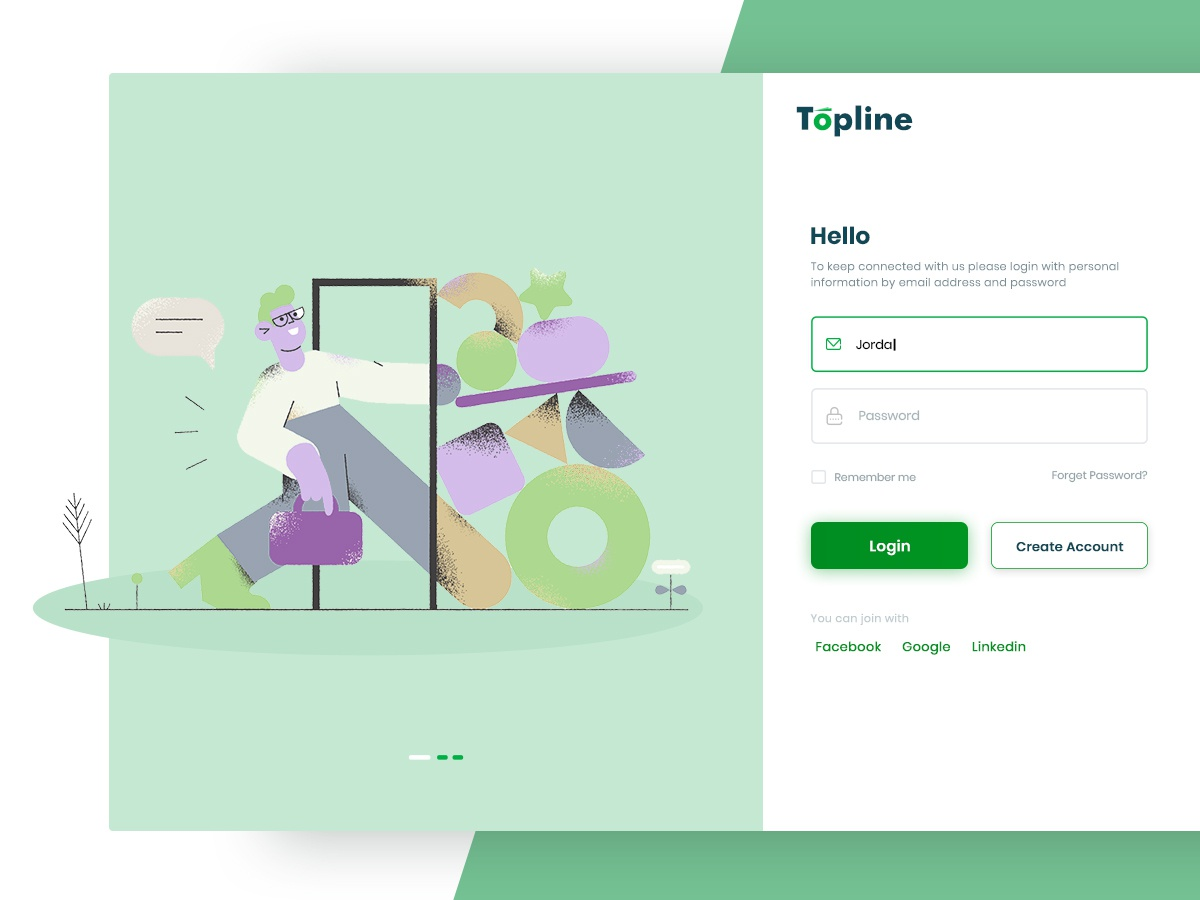 Web Login Screen hello color love minimal ux design ui dashboad character logo signup web login