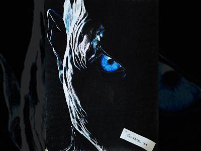 Portrait - The Night King - Game of Thrones fantasy eye season 7 night king tv show got fanart game of thrones art drawing